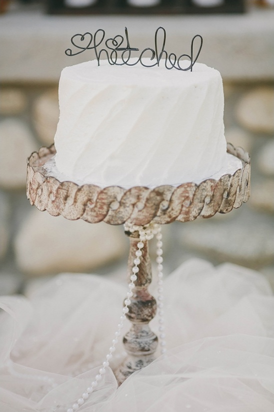 hitched cake topper