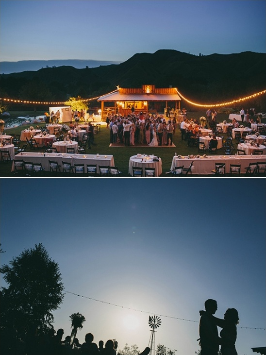 outdoor wedding reception lighting