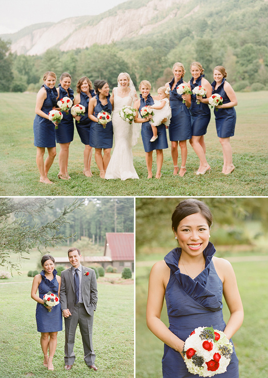 navy halter bridesmaid dresses