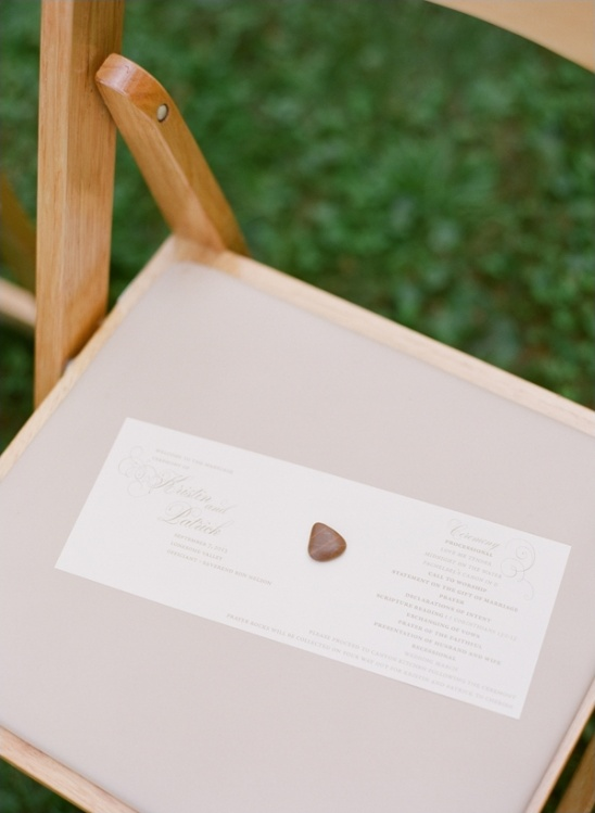 elegant wedding programs by lama works