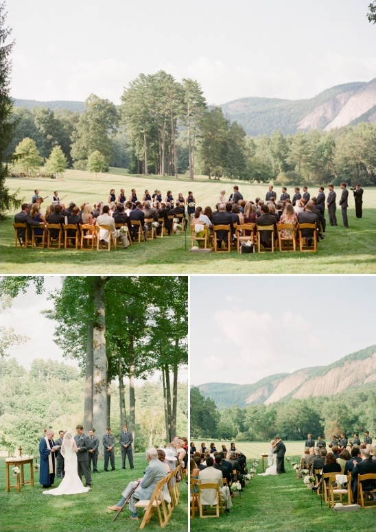 outdoor wedding ceremony at lonesome valley
