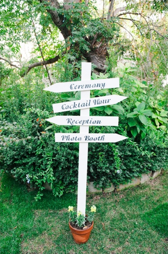 directional wedding sign ideas