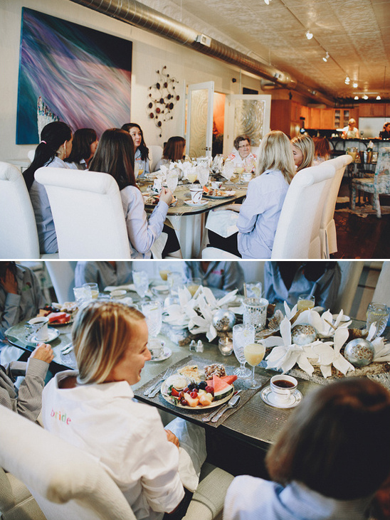 brunch with the bridesmaids