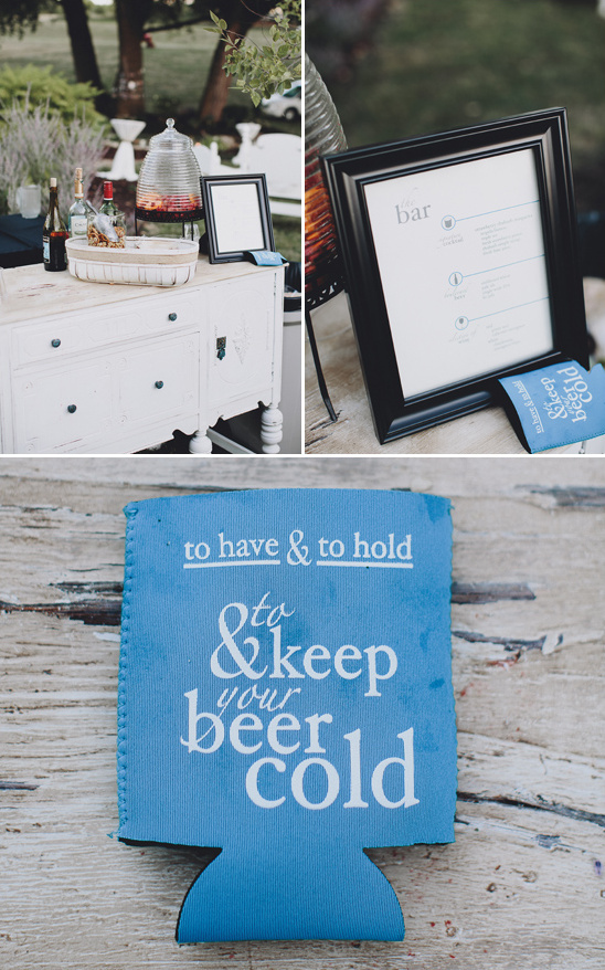 custom koozies as wedding favors