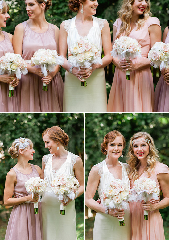 vintage inspired bridesmaid looks