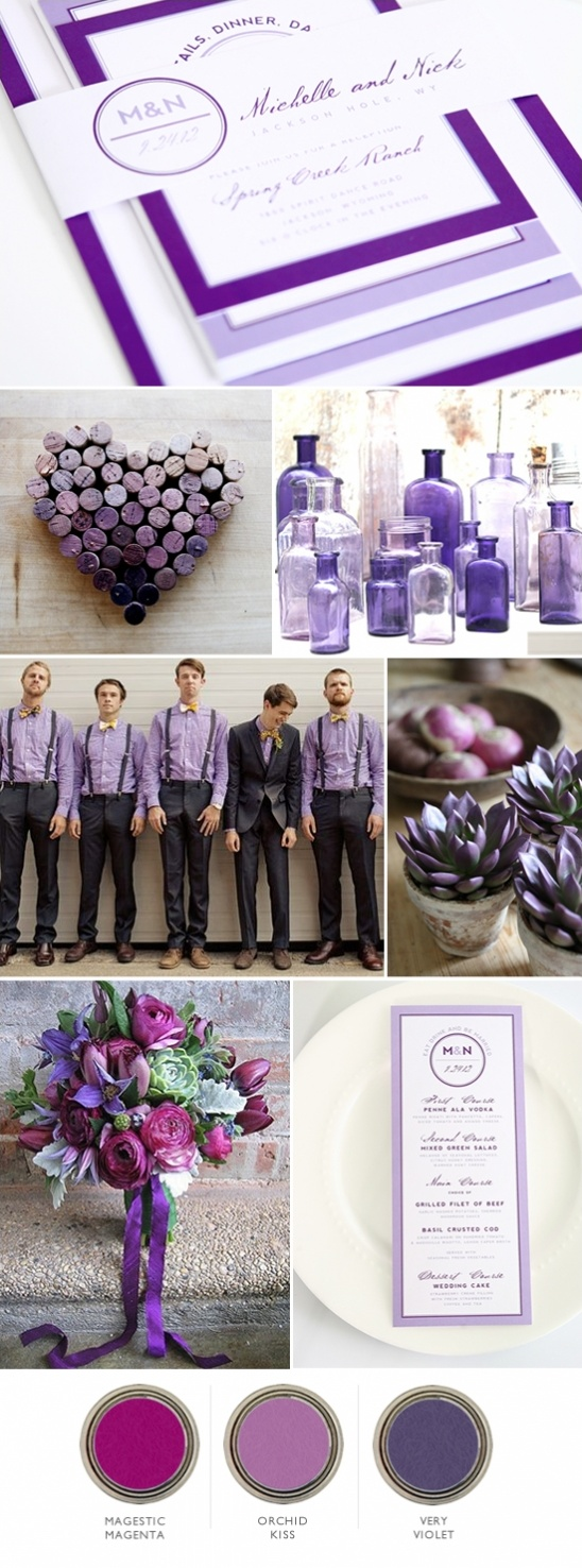 magenta and purple wedding ideas