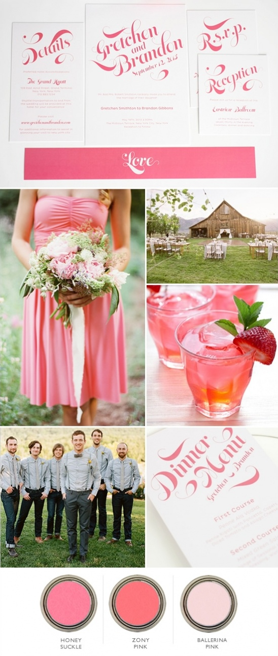 pink farm wedding ideas