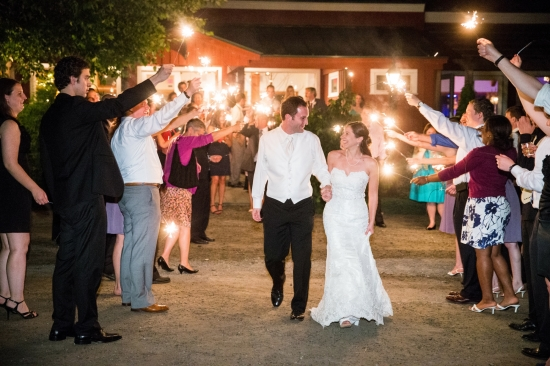 Late Night Entertainment At Colorful New England Wedding