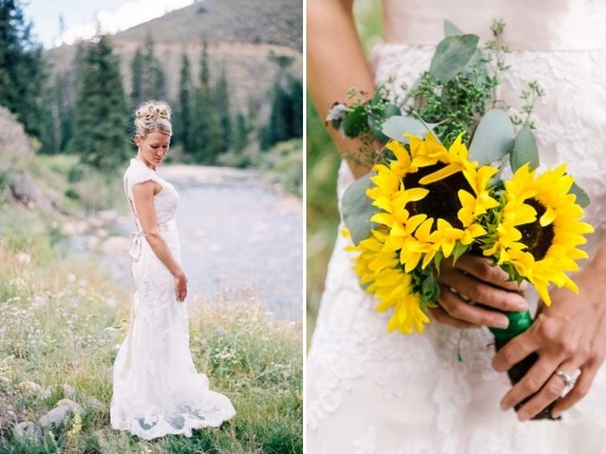 sunflower wedding bouquet