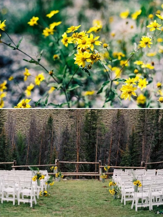 rustic outdoor wedding in colorado