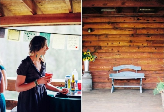 rustic colorado cabin reception