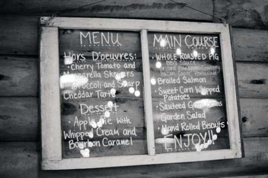 vintage window menu