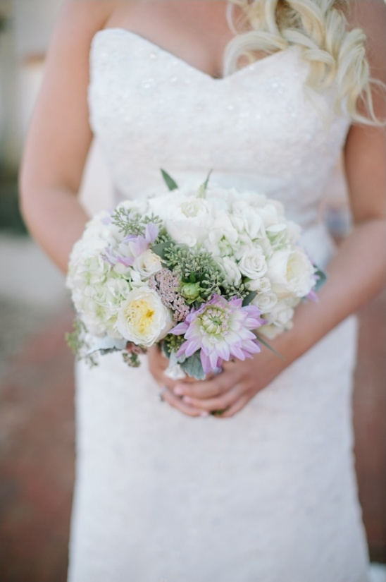 purple and white bouquet by modern bouquet