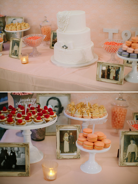 peach wedding desserts