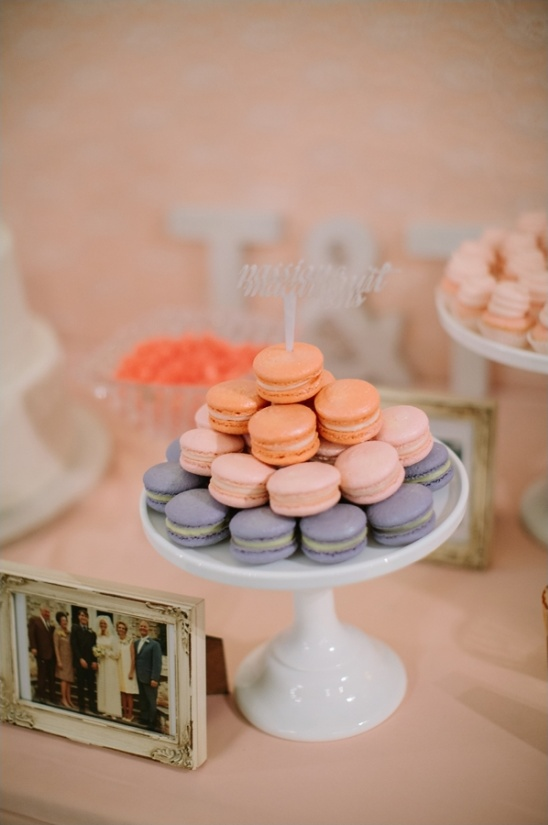 peach wedding cookies