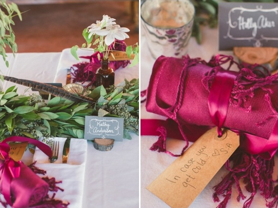 blanket wedding favors