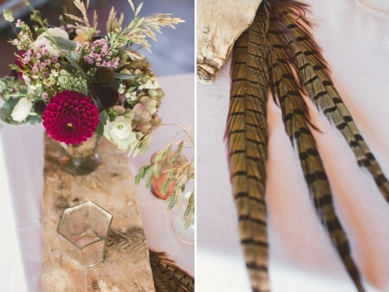 using feathers at your wedding