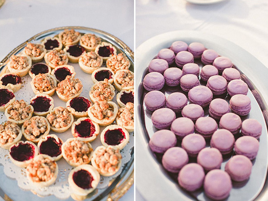 mini cobblers and huckleberry macaroons