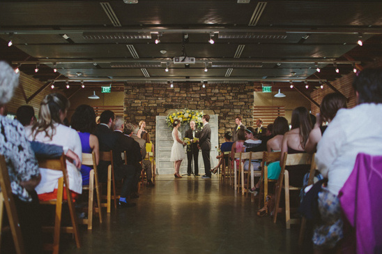 wedding ceremony at The Barn at Fallingwater