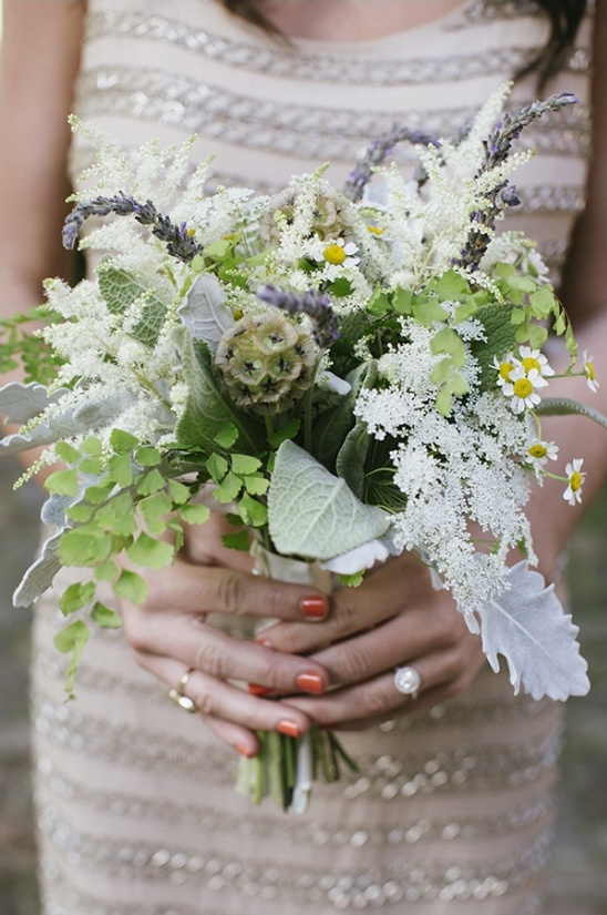 assorted greenery bridesmaid bouquet