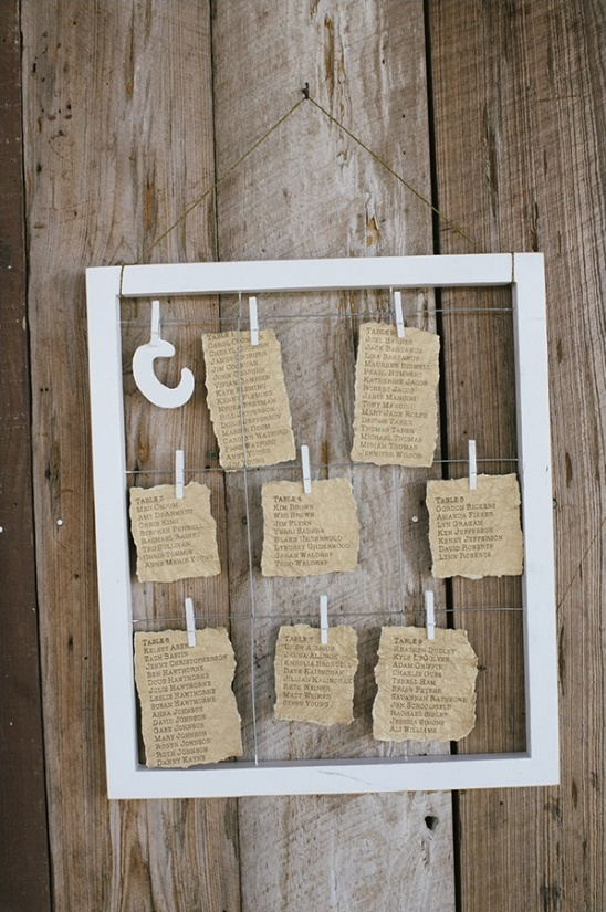 rustic seating chart idea