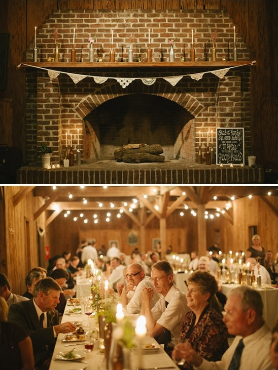 vintage shabby chic barn reception