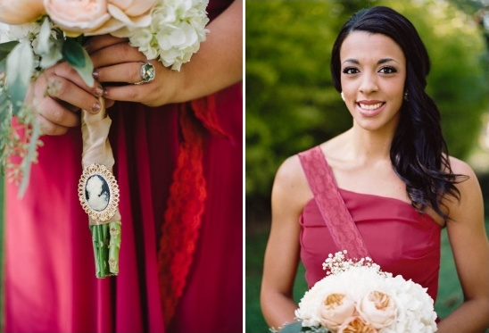 vintage bridesmaid bouquet broach