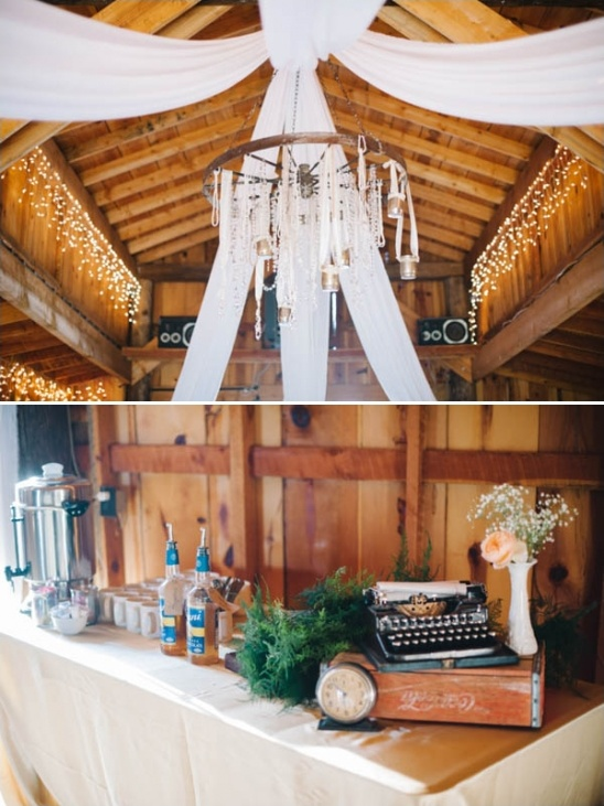 shabby chic barn decor and coffee bar