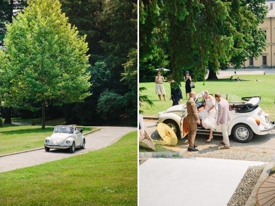 classic vw wedding entrance
