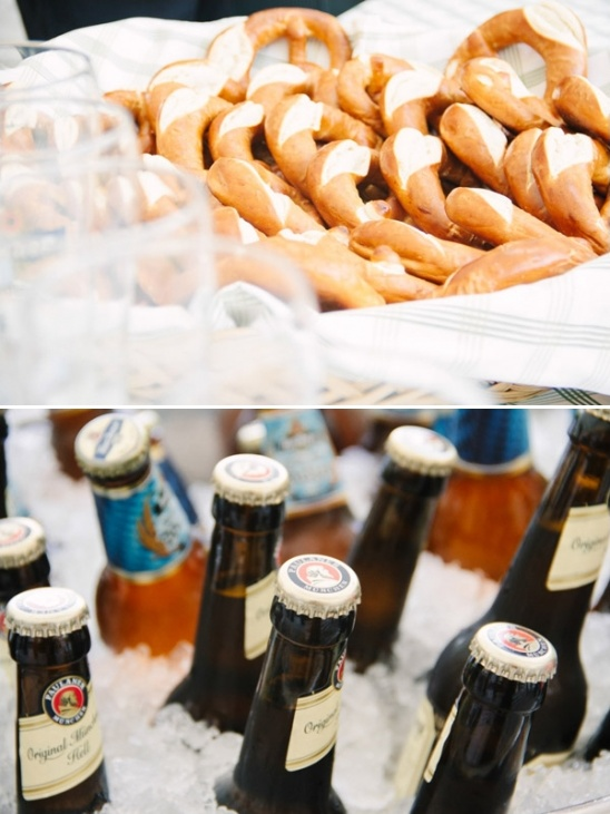 german beer and pretzels