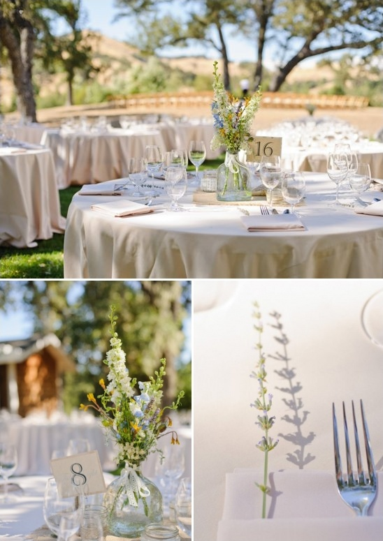lavender placed in each napkin