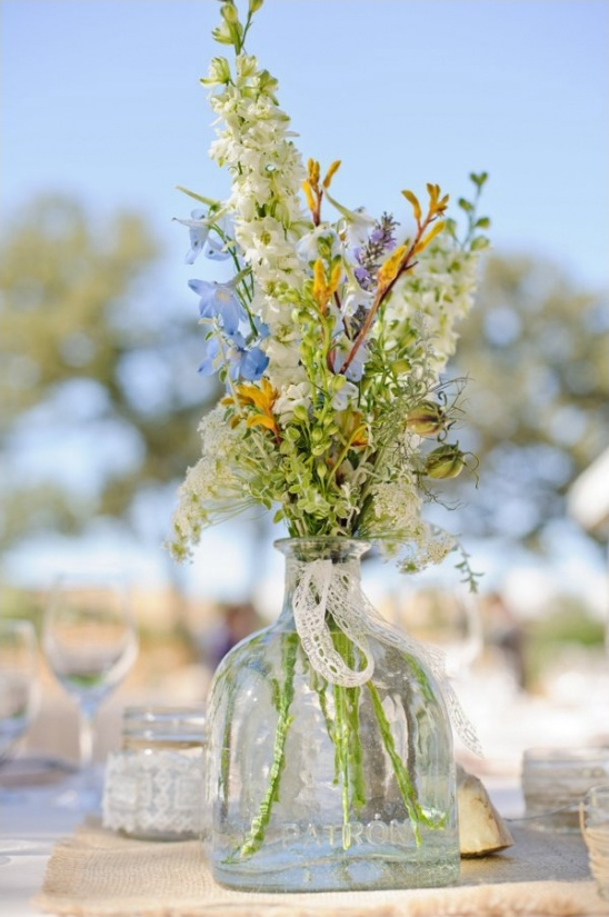 patron wedding centerpieces