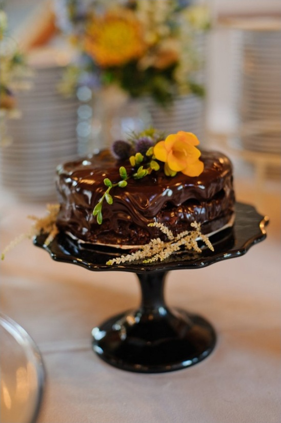 melted chocolate wedding cake