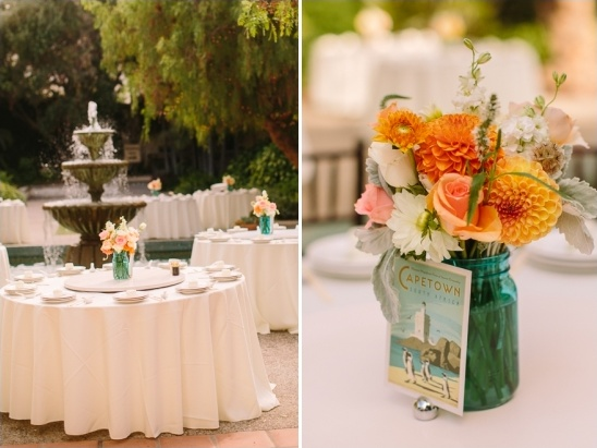 clean with table cloth table setting in outdoor reception
