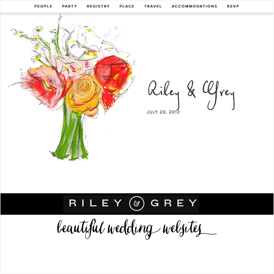 Riley and Grey Wedding Websites