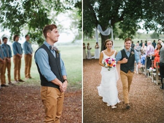 short and sweet outdoor wedding