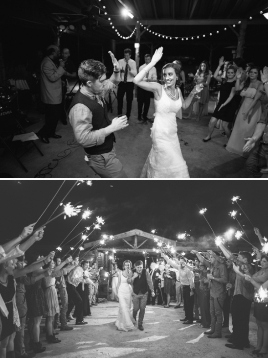 wedding dance and sparkler exit
