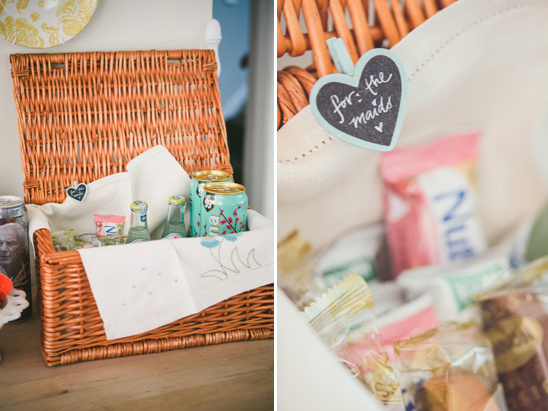 treat your bridesmaids to a prewedding picnic while you get ready