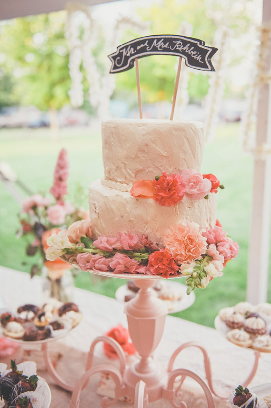 simple white wedding cake by the cheesecake store