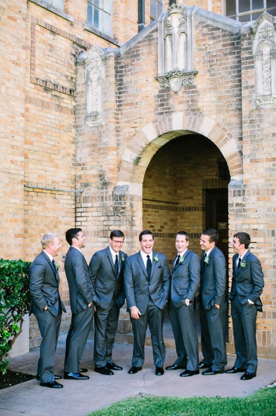 charcoal grey suit groomsmen look