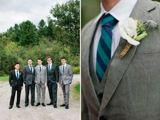 striped groomsman ties