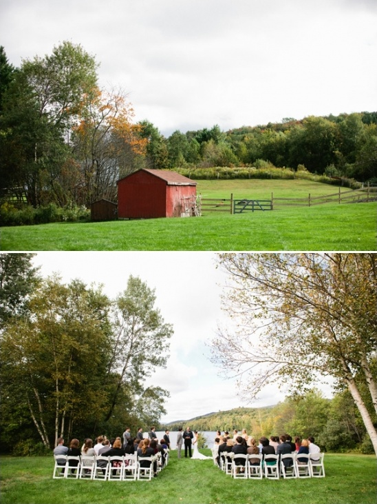 quiet outdoor farm wedding