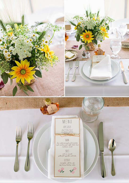 diy table setting menu by bride