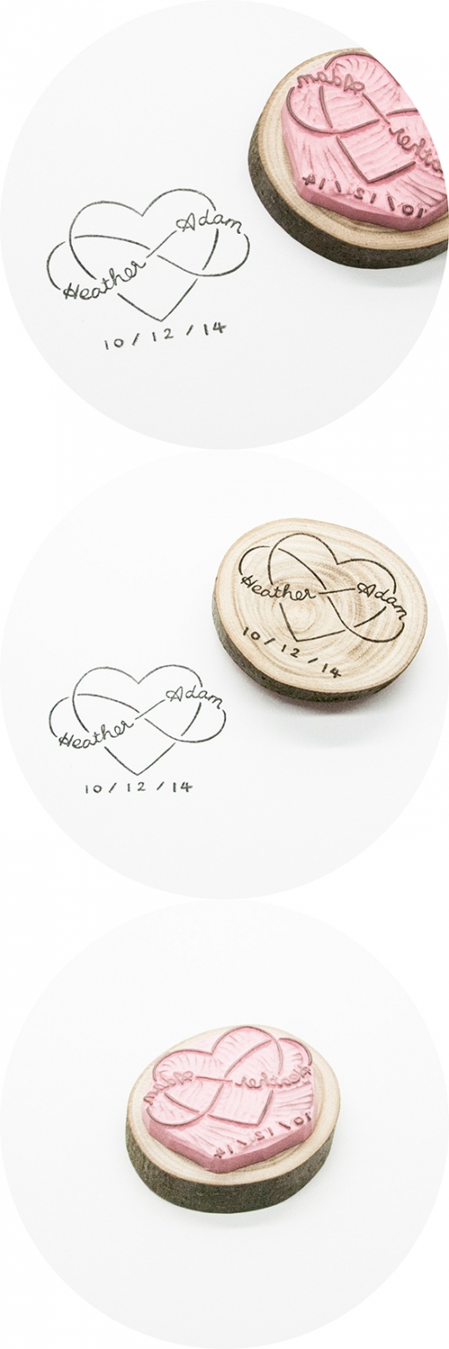 Handmade Rubber Stamp for Infinite Love