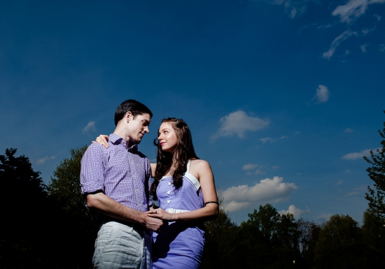 Fashion Model Gets Engaged at Horticultural Center