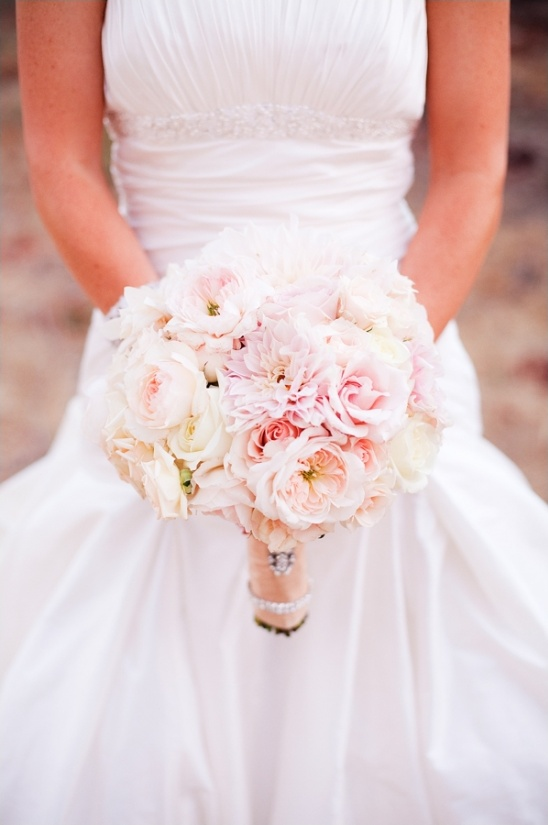 pastel pink bridal bouquet by asiel design