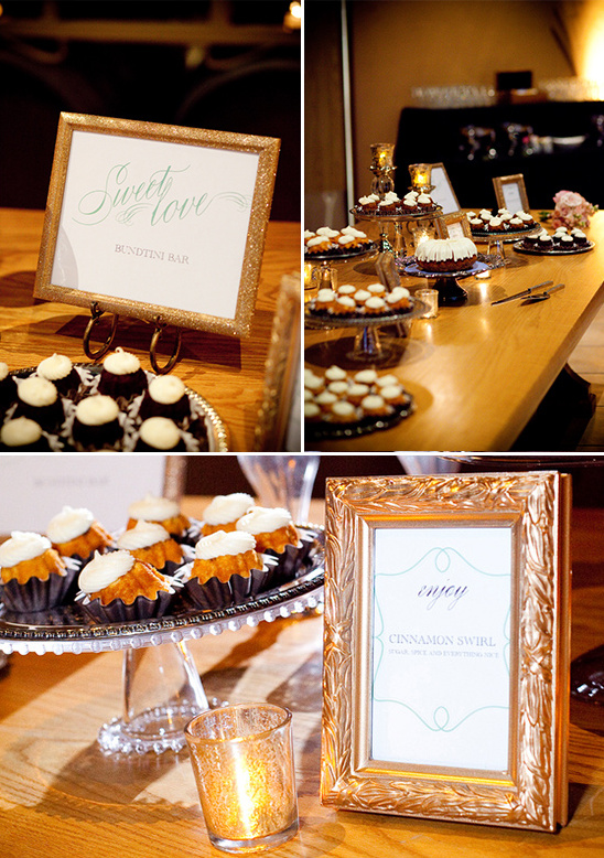 mini bunt cake dessert table
