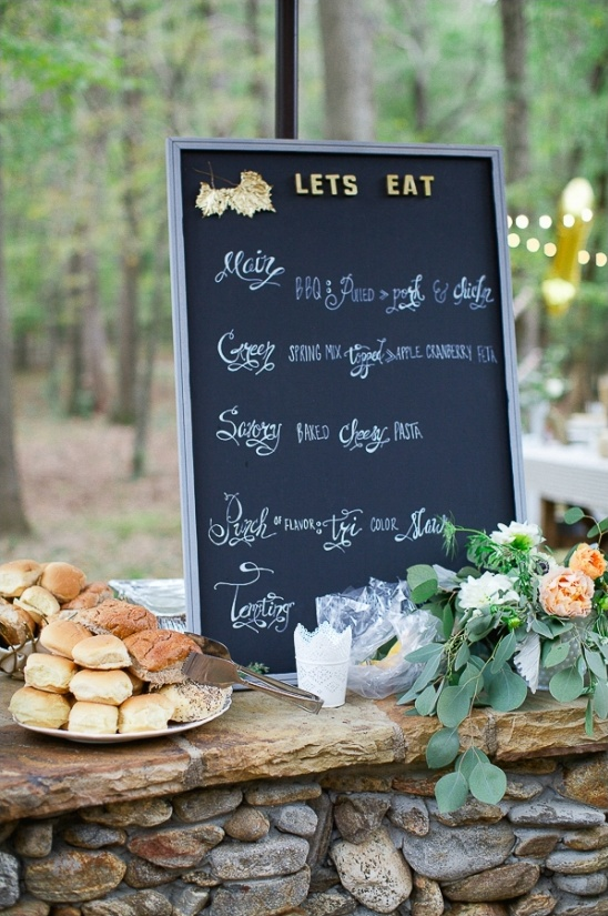 lets eat chalkboard sign