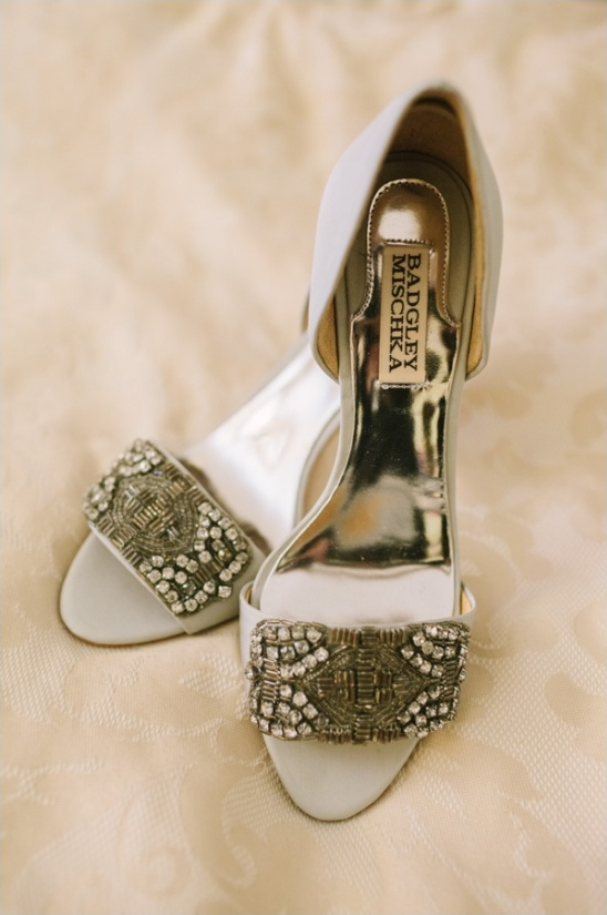 beaded Badgley Mischka bridal shoes