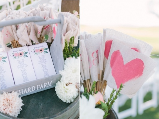 handpainted wedding flags